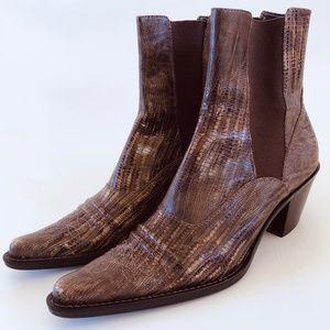 "Franco Sarto ""snakeskin"" leather Western boots"